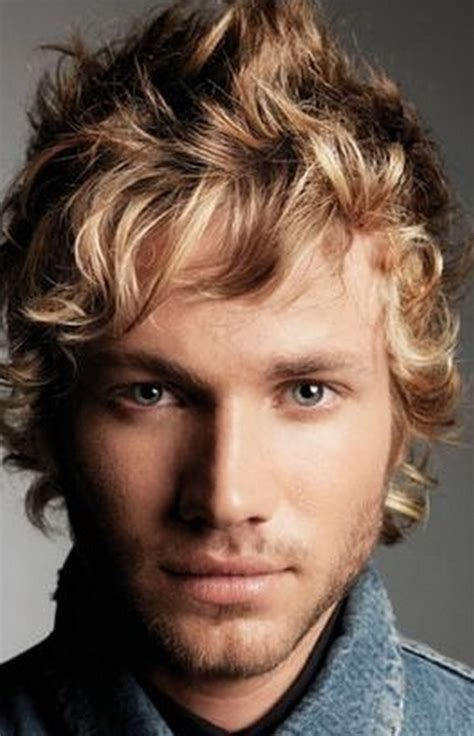 man with blonde curly hair picture 6
