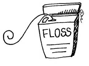 free teeth flossing clipart picture 6