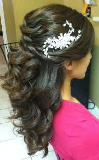wedding hair half up half down formal picture 3
