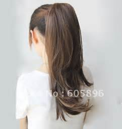 human hair pony tails picture 11