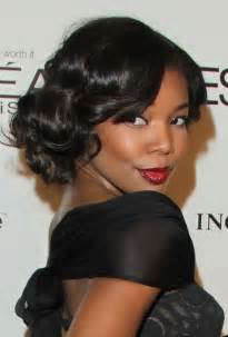 black hair wedding style picture 15