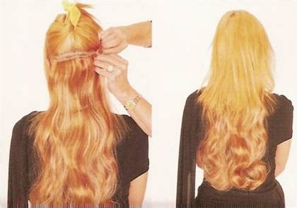 clip in hair extensions appling picture 2