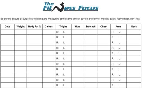 chart to track weight loss picture 1