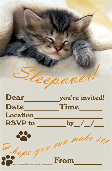 free printable sleepover party invitation picture 6