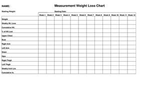 weight loss measurement chart picture 17