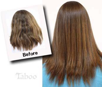 chemical hair straightening picture 2