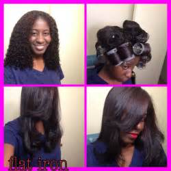 black hair flat iron picture 6