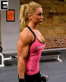 natural female muscle flexing picture 7