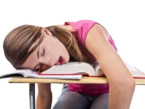 falling asleep during test picture 13
