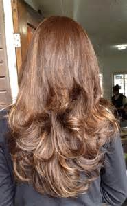 what does brown hair layered with blonde streaks look like picture 6