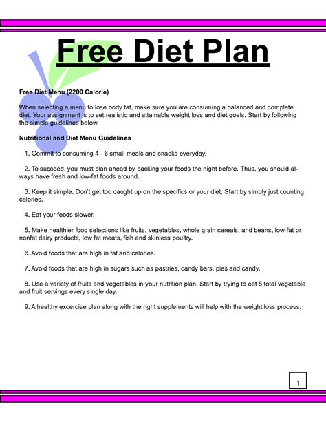 free online diet plans picture 1