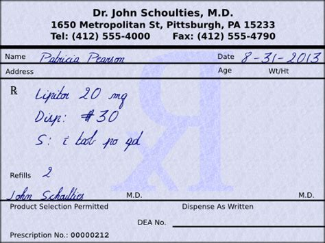 how can a write prescription picture 1