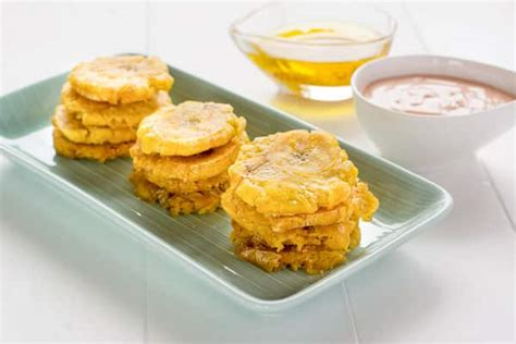 fried green plantains with garlic sauce picture 8