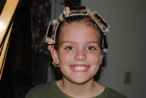 curlers in his hair picture 5
