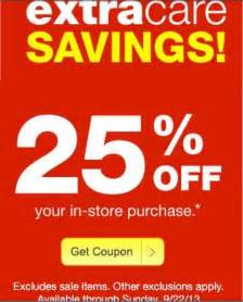 cvs coupon - $ 25 gc with new picture 1