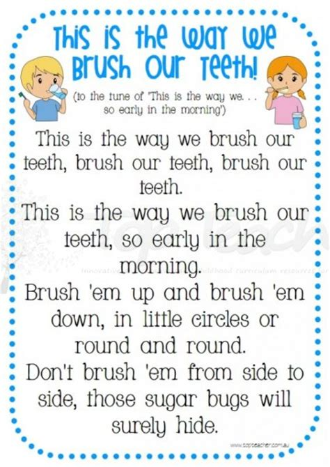 rhymes for healthy teeth picture 1