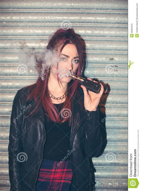woman in cloud of cigarette smoke picture 15