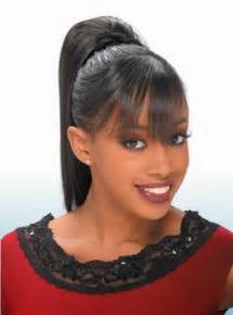 black hair ponytails picture 11