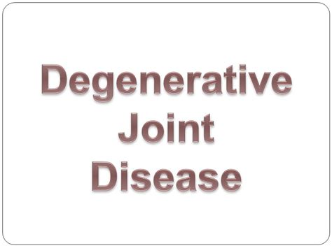degenerative joint disorder picture 13