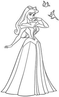 coloring pages disney princess sleeping beauty picture 15