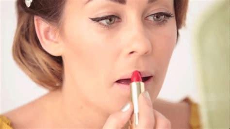 womens lips wearing lip gloss picture 11