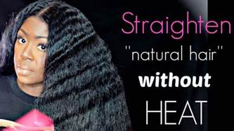 how to straighten natural hair video picture 14