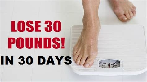 i want to lose 30lb in one month picture 3