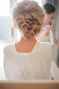 curly frizzy hair updo for wedding picture 1