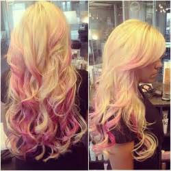 blonde brown and pink hair picture 2