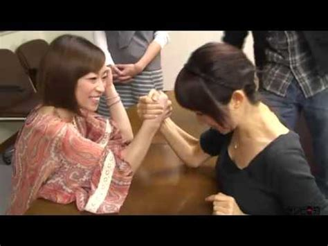 women arm wrestling flexing muscles picture 5