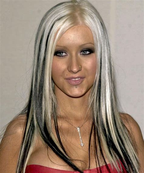 platinum blonde hair with black streaks picture 7