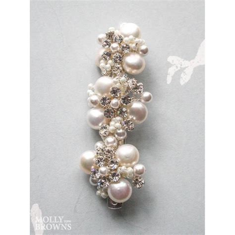 crystal flower hair clips picture 2