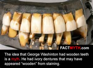 did people use to have wooden teeth picture 1