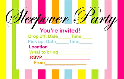 invitations for sleepover birthday party picture 11