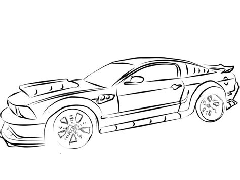 free printable muscle car art picture 6