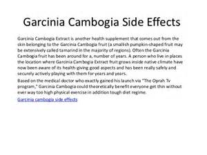 natural garcinia cambogia side effects picture 1