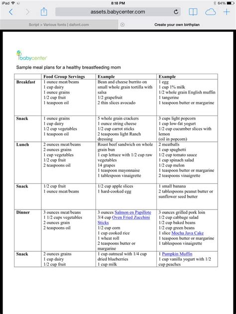 l.a. weight loss sample menu picture 2