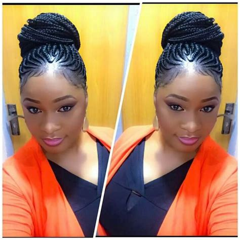 french braid on black hair picture 9
