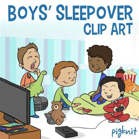 clip art with sleep over partys picture 12