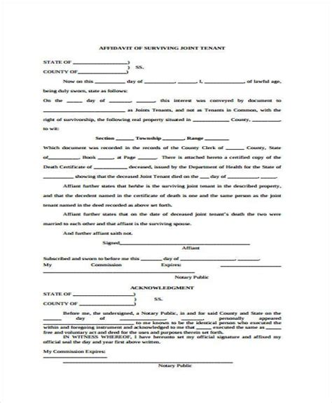 affidavit of death of joint tenant picture 2
