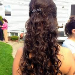 half up half down hair do's for prom picture 2