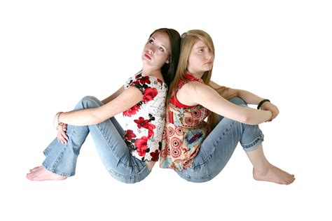 two girl sitting stomach on woman picture 13