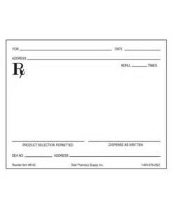blank prescription pad picture 1