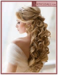 curly frizzy hair updo for wedding picture 9
