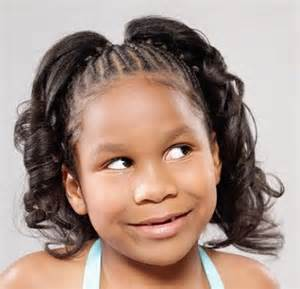 Black hair style for kids picture 1