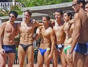 straight men get erection in beach public shower picture 1