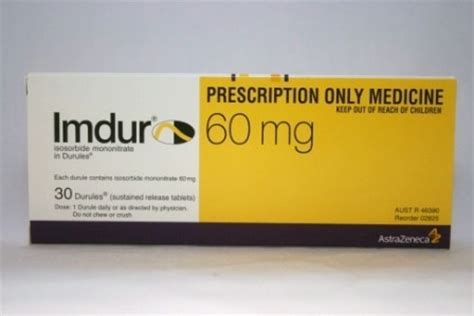 imdur is a nitrate which widens blood vessels and treats angina attacks (chest pain) picture 6