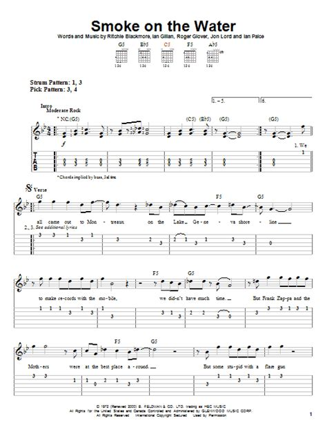 smoke on the water guitar tab picture 2