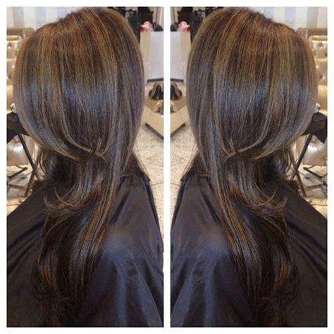 dark brown hair caramel highlights picture 11