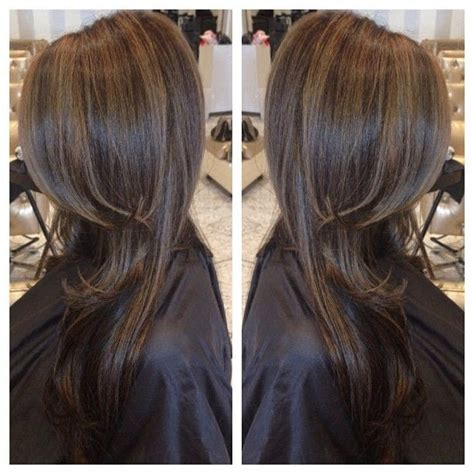 what does brown hair layered with blonde streaks look like picture 7